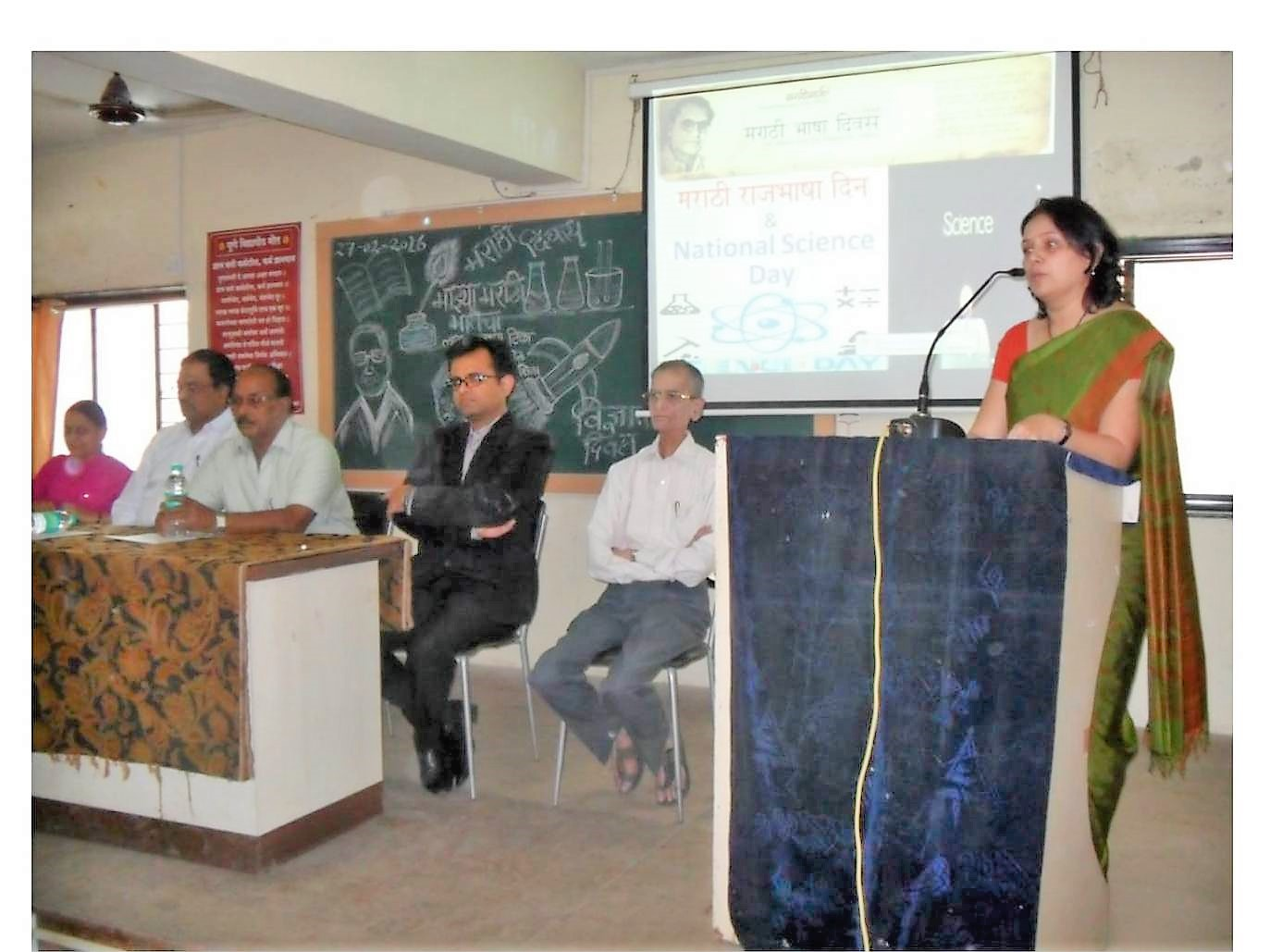 Dr  Chirag Vyas on Science day and Mrs  Madhuri Kulkarni on Marathi Day