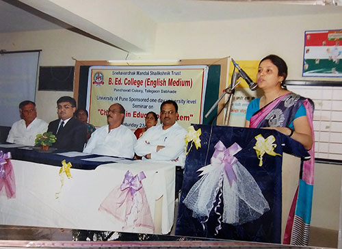 DR  Mali as chief guest for State level Seminar on Changes in Education